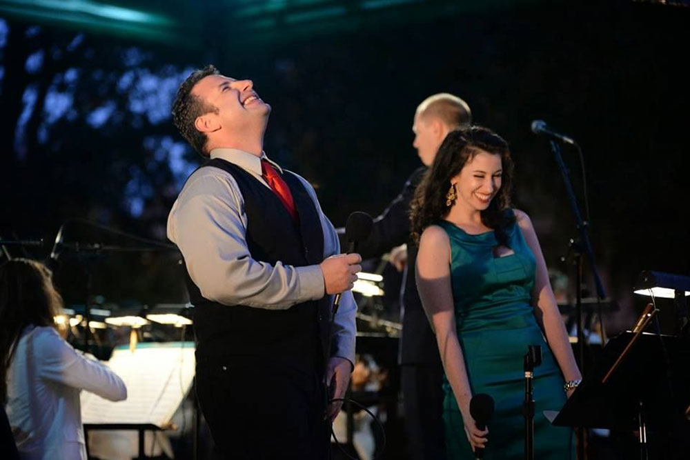 """Natalie Cordone and Shawn Kilgore bring their """"Swing in the Holidays"""" show of holiday hits for one night only at the Palm Coast Community Center, at 7 p.m. See details below. (Cordone & Kilgore)"""