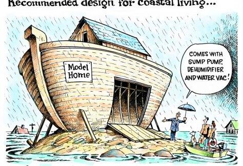 Coastal living and weather by Dave Granlund, PoliticalCartoons.com