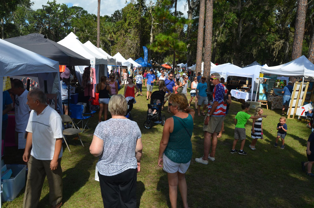 The Creekside Festival has always drawn throngs at Princess Place Preserve. (© FlaglerLive)