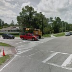 A Google image of the crosswalk at Belle Terre Parkway and White View Parkway.