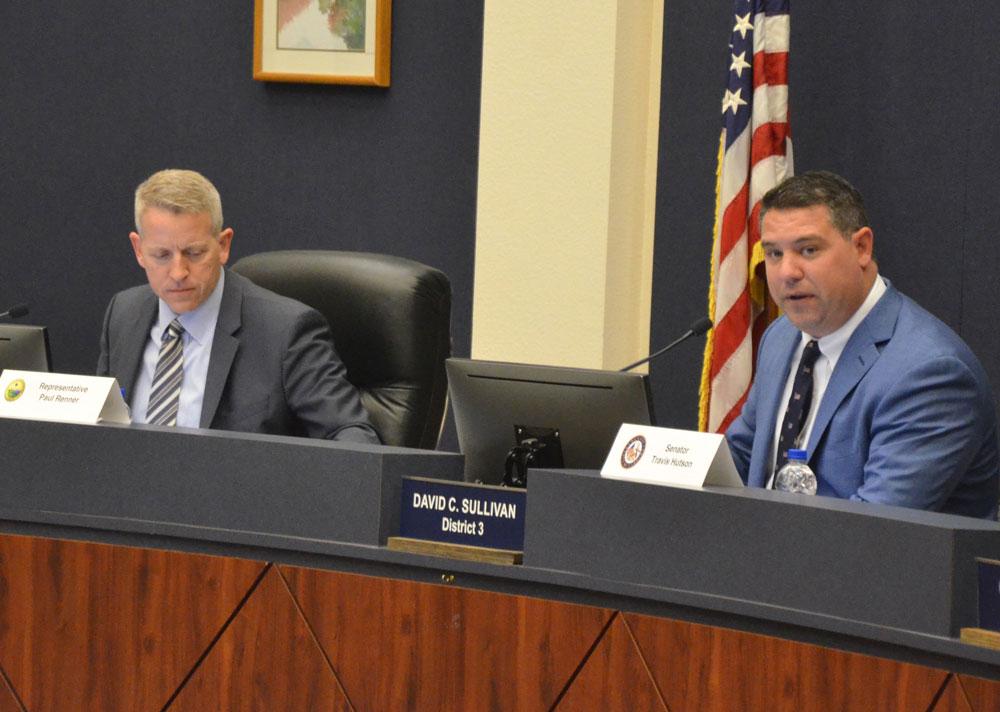 Sen. Travis Hutson, right, and Rep. Paul Renner are Flagler County's legislative delegation. (© FlaglerLive)