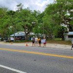 Demonstrators opposng the redevelopment of a former boating manufacturing facility into a boat-storage warehouse have been holding weekly protests in front of the acreage in question on State Road A1A, next to Hammock Hardware. (HCA)