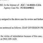 The State Attorney's Office's Jan. 13, 2015 disposition of James Cooke III's case, when he was sentenced to a diversion program after two charges of raping children ages 2 and 3.