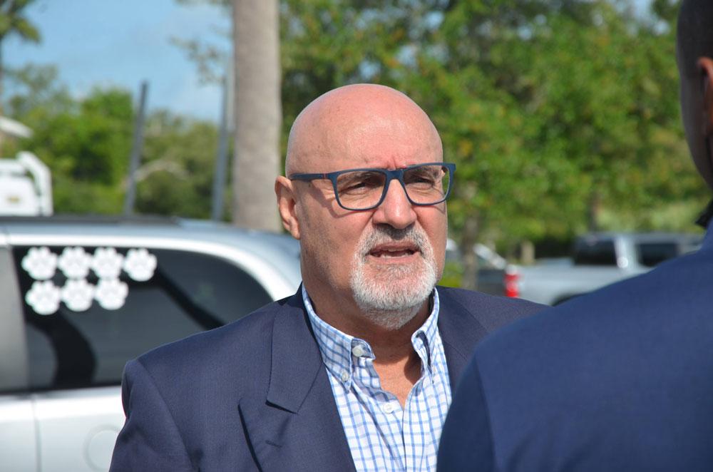Palm Coast Mayor Eddie Branquinho isn't always clearly understood. (© FlaglerLive)