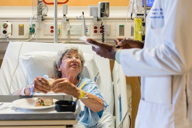 Harriet Diamond at the UCLA Medical Center in Santa Monica, Calif., in May. (Heidi de Marco/KHN)