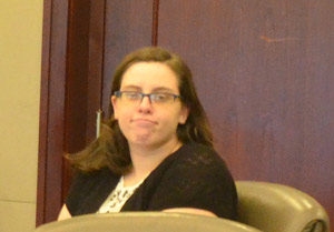 Erin Vickers at her trial last month. (© FlaglerLive)