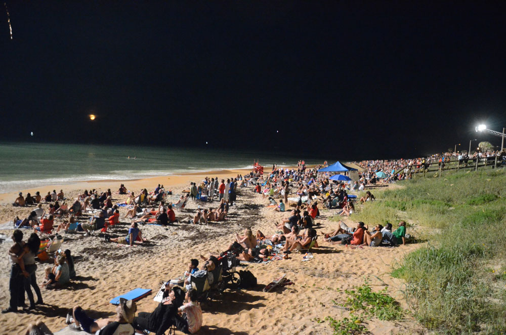 No way to social distance: Flagler Beach will not host its traditional parade and fireworks on July 4 this year. (© FlaglerLive)