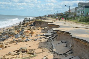 What's left of A1A south of 12th Street. It doesn't get better for many blocks. Click on the image for larger view. (c FlaglerLive)