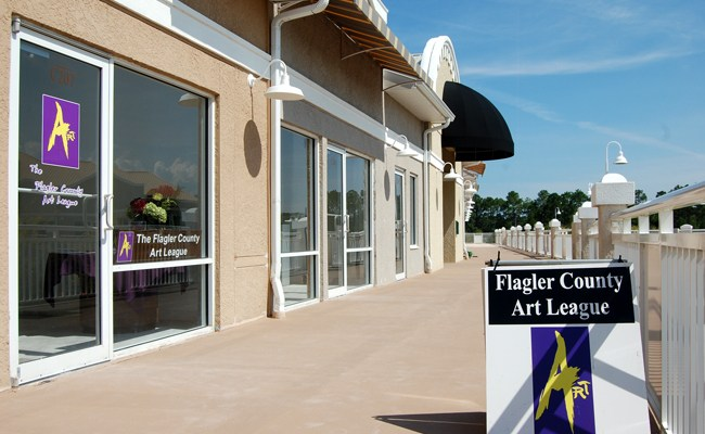 Prompted by Weldon Ryan, the move to City Market Place has been a boon to the Flagler County Art League. (© FlaglerLive)