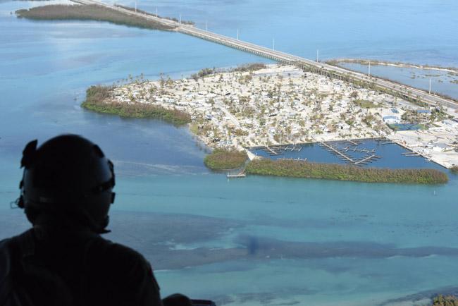 Above the Florida Keys after Hurricane Irma. (Arkansas National Guard)