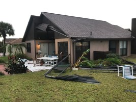 The storm blew away a house's Florida Room in the Pebble Beach subdivision in Flagler Beach.