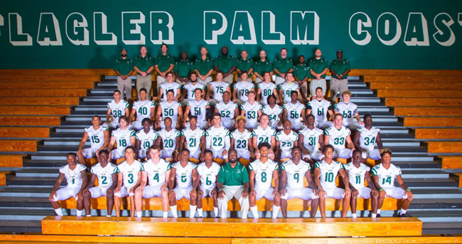 Flagler Palm Coast High's football team, undefeated this season, is among those being recognized by the school board this evening at the Flagler Auditorium. (Cady Studios via FPC)