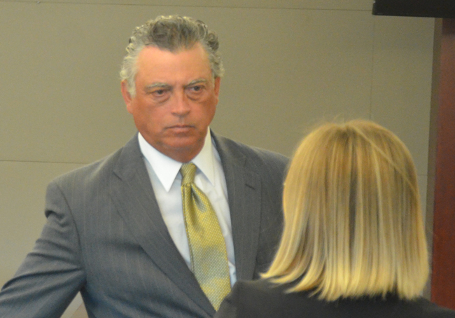 Florence Fruehan after his plea and sentencing in court this afternoon, as he was getting ready to meet with a probation officer. (c FlaglerLive)