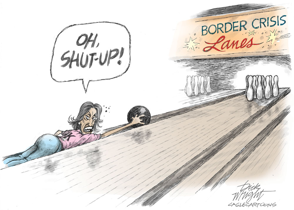 kamala harris bowling border crisis