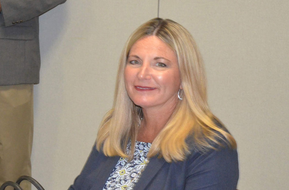 Heidi Petito, Flagler County's latest interim administrator, but the first woman to fill that role in the county's history. In Flagler's city or county governments, only Flagler Beach has had a woman at the help in the past. (© FlaglerLive)