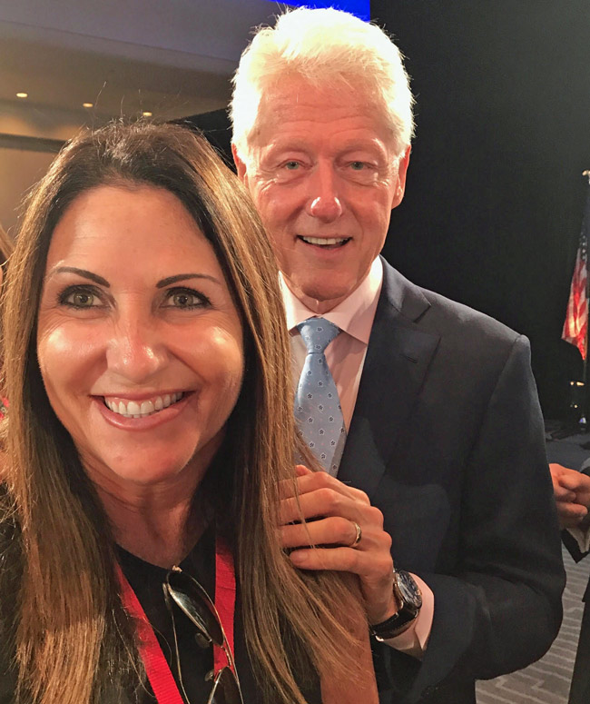 Former President Bill Clinton was among the speakers at the 85th Annual U.S. Conference of Mayors, which Palm Coast Mayor Milissa Holland attended over the past weekend. 'It has been the most inspiring workshops of best practices, out of the box thinking that I have ever been to,' she said. (© Milissa Holland for FlaglerLive)