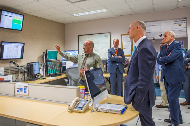 Gov. Rick Scott with U.S. Department of Homeland Security Secretary John Kelly today at the National Hurricane Center in Miami.