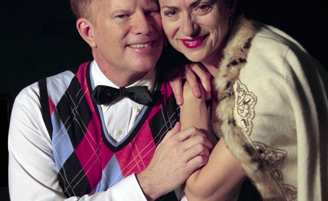 Julia Davidson Truilo and Lloyd Bowers in 'I Do! I Do!' at Palm Coast's City Repertory Theatre.