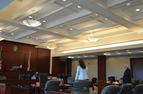 In court today: Circuit Judge Dennis Craig, Assistant State Prosecutor Jennifer Dunton, and Assistant Public Defender Matthew Phillips. David Snelgrove was not in court. (© FlaglerLive)