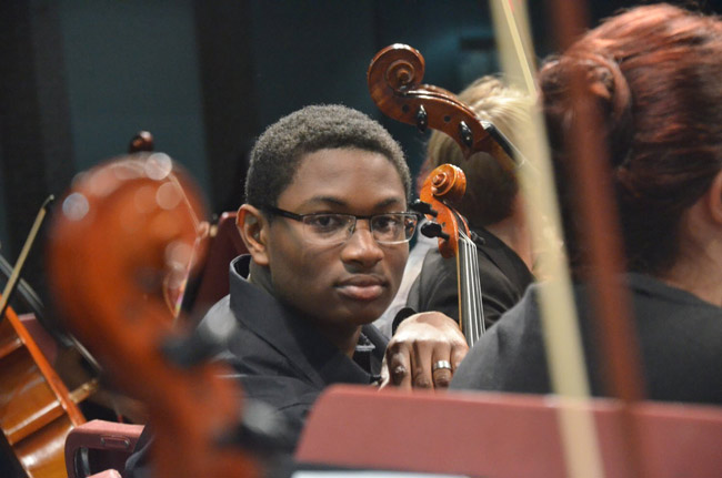 Isaac Summers is one of the many star musicians performing in the Flagler Youth Orchestra's Take a Bow Concert, the final con cert of the season, at the Flagler Auditorium this evening. See below. (© FlaglerLive)