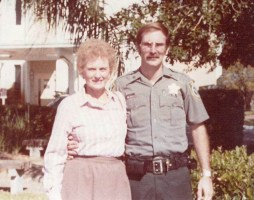 Jane Staly and her son Rick when he was with the Orange County Sheriff's Office. Rick Staly is Flagler County Sheriff. (Rick Staly)