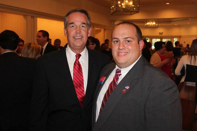 Jeff Atwater, left, and his representative in the Flagler region, Patrick Juliano. (Patrick Juliano)