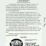 George W. Bush's Jesus Day Proclamation, Texas, June 10, 2000