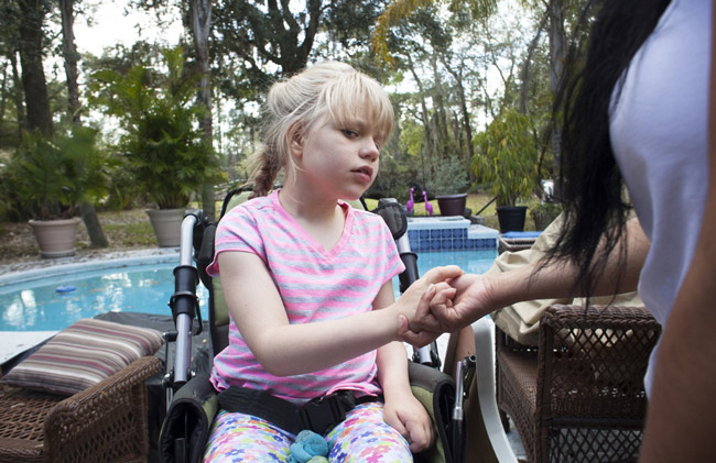 Christina Clark, of Saint Augustine, was diagnosed with generalized, intractable seizure disorder, and needs medical marijuana as treatment. Read her story here. (© Jennifer Kaczmarek)