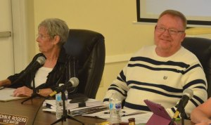 Bunnell Commissioners John Rogers and Jan Reeger. (© FlaglerLive)