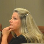 Kimberle Weeks in court today. (c FlaglerLive)