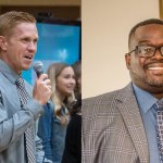 Ryan Andrews, left, and Travis Lee, the new principals at Indian Trails Middle School and Rymfire Elementary. (Flagler Schools)