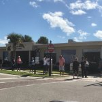 It's been like that since this morning at the Flagler Beach City Hall voting precinct. (© FlaglerLive)