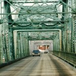The 100-year-old Madawaska-Edmundston International Bridge connecting Maine to Canada. (© FlaglerLive)