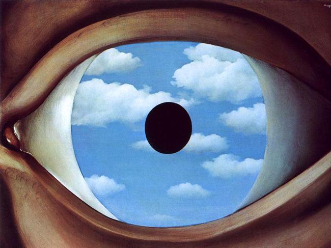magritte's false mirror