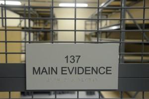 evidence room sheriff