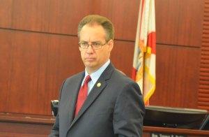 Assistant State Attorney Mark Johnson, before masks. (© FlaglerLive)