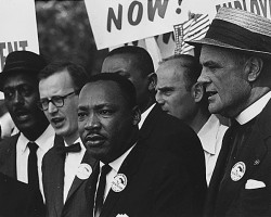 Martin Luther King at the March on Washington, 1963. (National Archives)