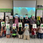 Masking the masks: Brevard County public school students earlier this month. (Facebook)