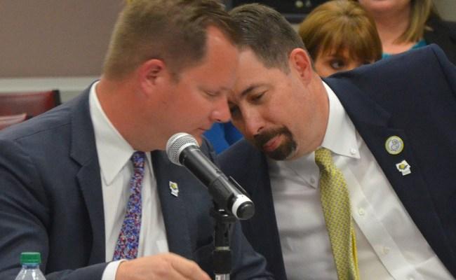 Flagler Tourism Director Matt Dunn, left, and County Administrator Craig Coffey. (© FlaglerLive)