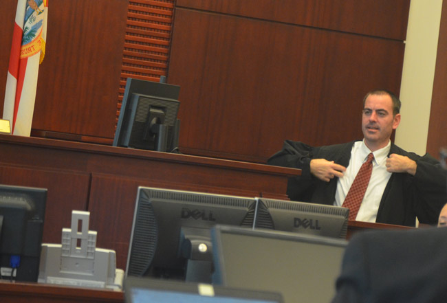 Flagler County hardly knew him: Circuit Judge Matthew Foxman will be returning to Volusia County by early next year, and will be replaced by Judge Dennis Craig, who once presided over civil and family law cases in Flagler. (© FlaglerLive)