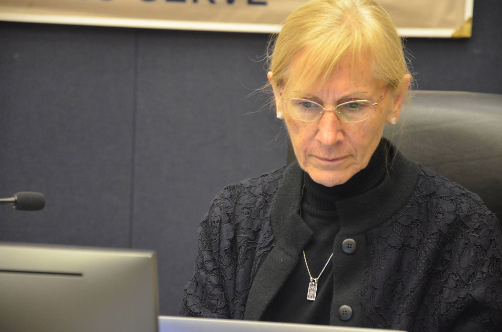 Flagler County School Board member Janet McDonald had been sharpening knives before, during and especially after Tuesday's tumultuous meeting of the school board. (© FlaglerLive)