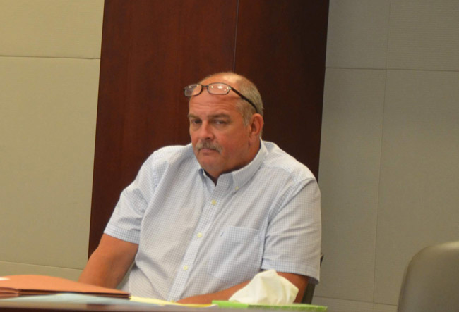 Jerald Medders during jury selection this morning. (© FlaglerLive)