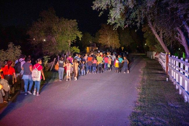 migrants in McAllan