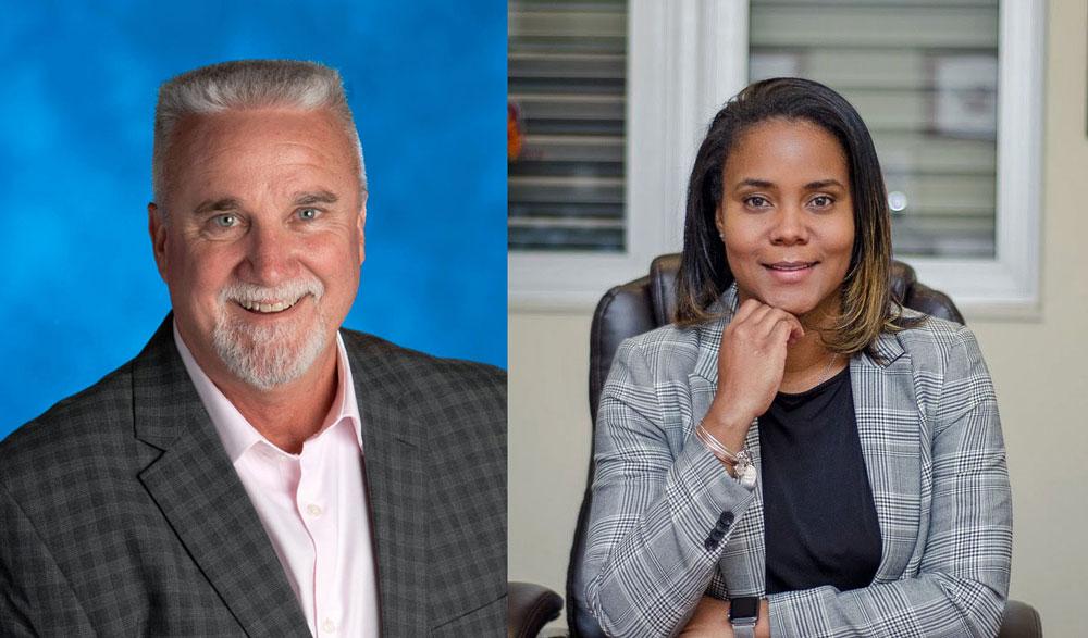 Paul Peacock and LaShakia Moore. (Flagler Schools)
