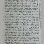 women's suffrage flagler county