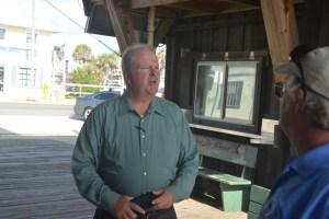 Flagler Beach City Manager Larry Newsom, who got it done. (© FlaglerLive)