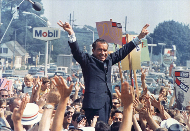 The clue to Trump's victories: Richard Nixon in 1968. (Ollie Atkins)