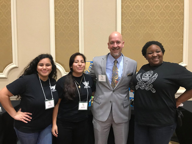 Matanzas High School students and Mrs. Keen got to spend time with former Superintendent and current Vice Chancellor Jacob Oliva, at the Future Educators of America conference in Orlando last week. (MHS)
