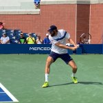 Reilly Opelka, cruising today at the U.S. Open. (© FlaglerLive)