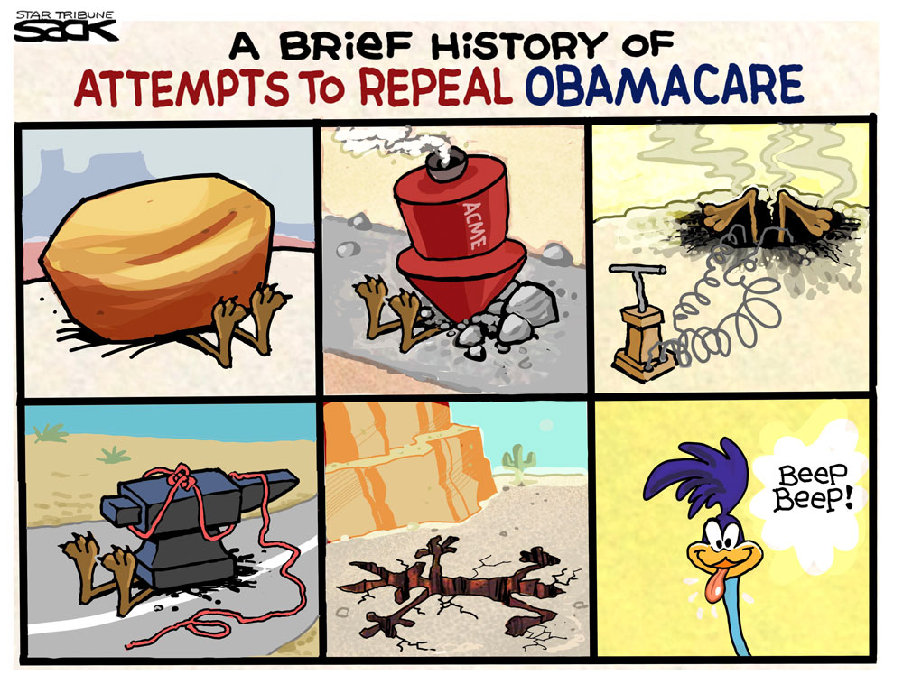 Obamacare Survives by Steve Sack, The Minneapolis Star-Tribune, Minn.